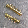 Four-Strand Gold-Plated Tube Slide Clasp