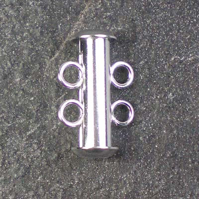 Two-Strand Silver-Plated Tube Slide Clasp