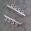 Four-Strand Silver-Plated Tube Slide Clasp