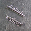 Five-Strand Silver-Plated Tube Slide Clasp