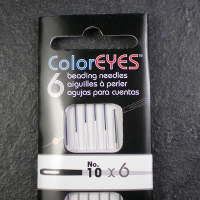 Beadsmith ColorEYES Size 10 Beading Needles