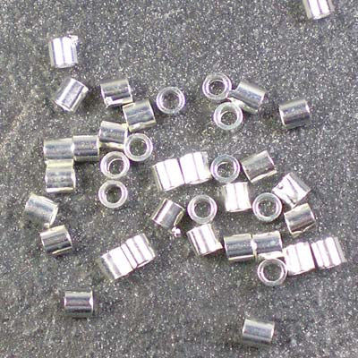 2g Silver-Plated 2.5mm Crimp Tubes