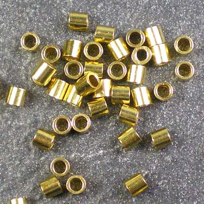 2g Gold-Plated 2.5mm Crimp Tubes