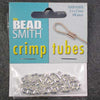 Silver-Plated 2.5mm Crimp Tubes x 100