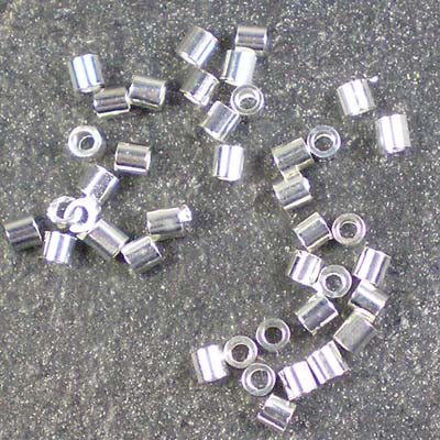 1g Silver-Plated 2mm Crimp Tubes