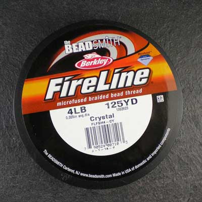 FireLine 4lb Beading Thread Crystal – 125 yards