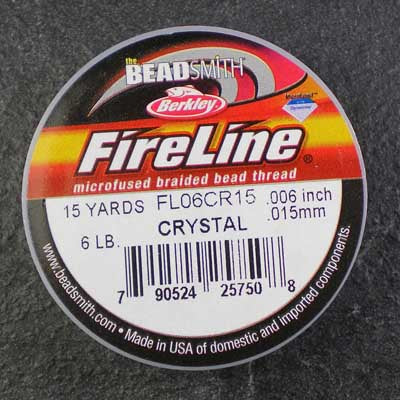FireLine 6lb Beading Thread 0.16mm/.006 Inch Crystal – 15 yards