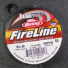 FireLine 6lb Beading Thread 0.16mm/.006 Inch Crystal – 50 yards