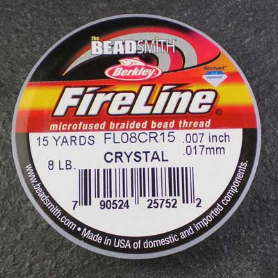 FireLine 8lb Beading Thread 0.17mm/.007 Inch Crystal – 15 yards