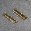 Five-Strand, Fluted, Rectangular Gold-Plated Tube Slide Clasp
