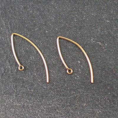 1 pair 26mm 14kt Gold-Filled Bead Point-Hook Ear Wires