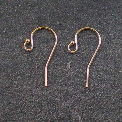 1 pair 20mm 14kt Gold-Filled Ball French-Hook Ear Wires
