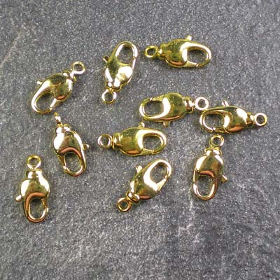Gold-Plated 11mm Lobster Clasps