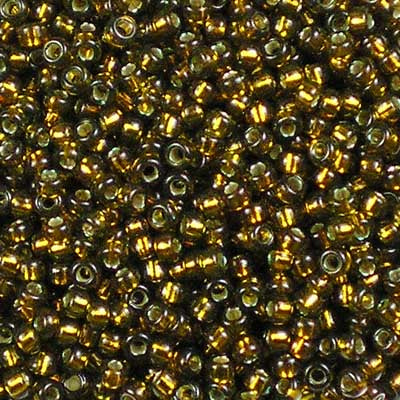 11-1421 Dyed Silver-lined Golden Olive - Miyuki 11/0 Seed Beads