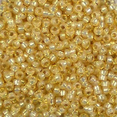 11-0578 Dyed Light Topaz Silver-Lined Alabaster - Miyuki 11/0 Seed Beads