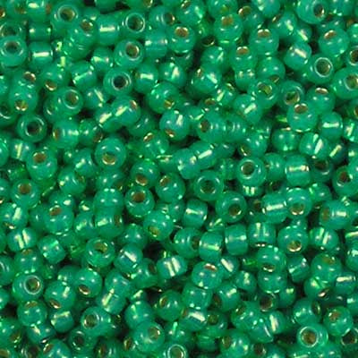 11-0646 Dyed Dark Mint Green Silver-Lined Alabaster - Miyuki 11/0 Seed Beads