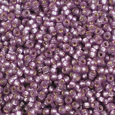 15-1655 Dyed Semi-Frosted Silver-lined Mulberry - Miyuki 15/0 Seed Beads