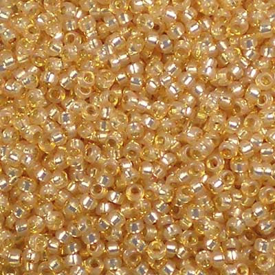 15-0552 Dyed Light Apricot Silver-Lined Alabaster - Miyuki 15/0 Seed Beads