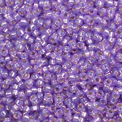 15-0574 Dyed Lilac Silver-Lined Alabaster - Miyuki 15/0 Seed Beads