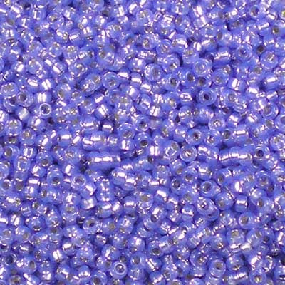 15-0649 Dyed Violet Silver-Lined Alabaster - Miyuki 15/0 Seed Beads