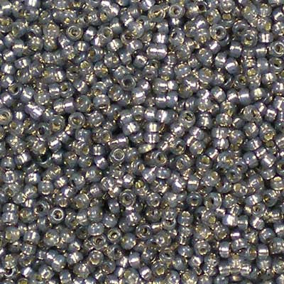15-0650 Dyed Rustic Grey Silver-Lined Alabaster - Miyuki 15/0 Seed Beads