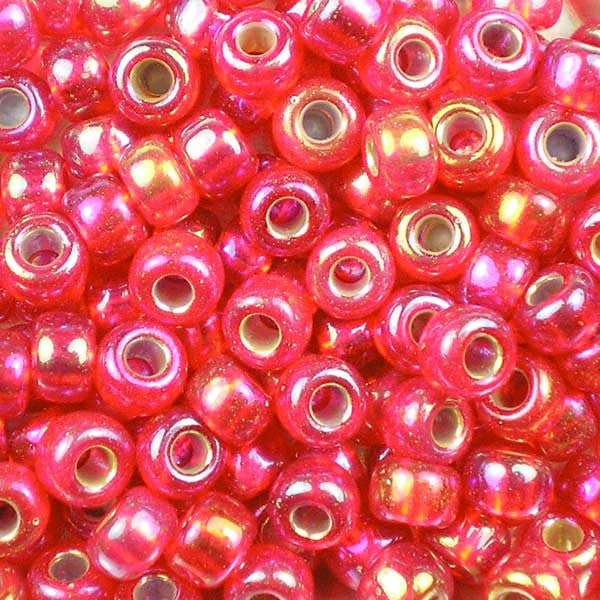 6-1010 Silver-Lined Flame Red AB - Miyuki 6/0 Seed Beads