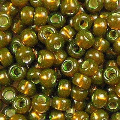 6-1421 Dyed Silver-Lined Golden Olive - Miyuki 6/0 Seed Beads