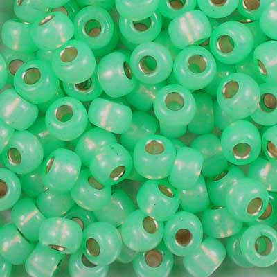 6-0571 Dyed Sea Green Silver-Lined Alabaster - Miyuki 6/0 Seed Beads