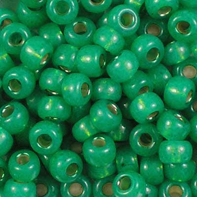 6-0646 Dyed Dark Mint Green Silver-Lined Alabaster - Miyuki 6/0 Seed Beads