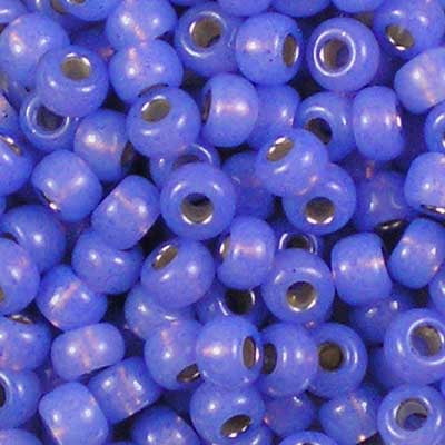 6-0649 Dyed Violet Silver-Lined Alabaster - Miyuki 6/0 Seed Beads