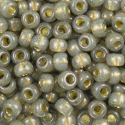 6-0650 Dyed Rustic Grey Silver-Lined Alabaster - Miyuki 6/0 Seed Beads