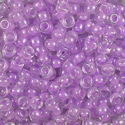 8-0222 Orchid-Lined Crystal Miyuki 8/0 Seed Beads