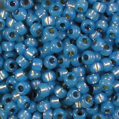 8-4242 Duracoat Dyed Silver-Lined Powder Blue - Miyuki 8/0 Seed Beads