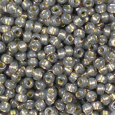 8-0650 Dyed Rustic Grey Silver-Lined Alabaster Miyuki 8/0 Seed Beads