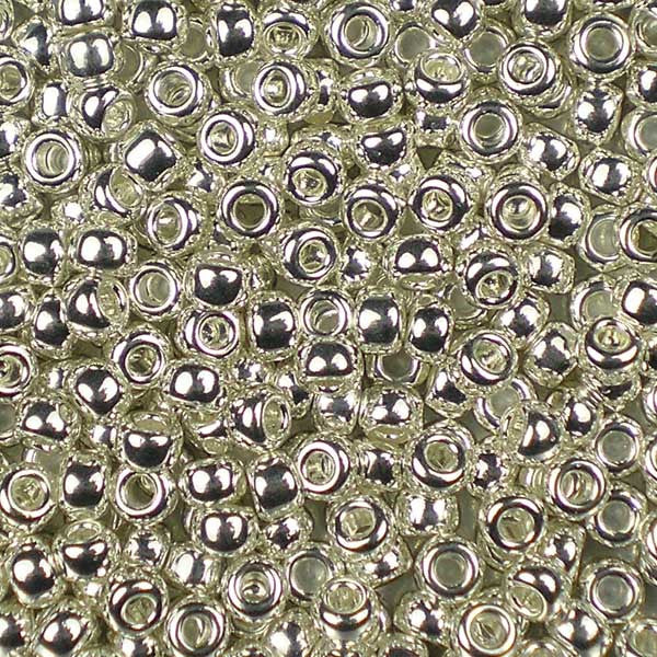 "8-0961 Bright ""Sterling"" Silver-Plated 5g Bag - Miyuki 8/0 Seed Beads"
