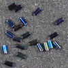 BGL1-0455 Metallic Variegated Blue Iris Miyuki 3mm Bugle Beads