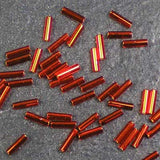 BGL2-0010 Silver-Lined Flame Red Miyuki 6mm Bugle Beads