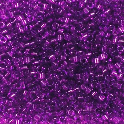 DB-1315 Dyed Transparent Red Violet Miyuki 11/0 Delica Beads