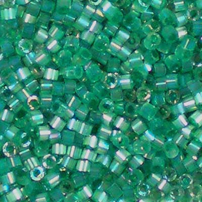 DB-1870 Silk-Inside Dyed Emerald AB 11/0 Delica Beads