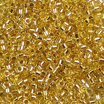 DB-0033 24kt Gold-Lined Crystal 2g - Miyuki 11/0 Delica Beads