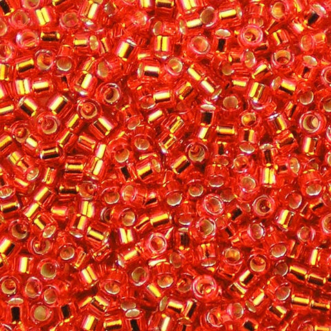 DB-0043 Silver-Lined Flame Red Miyuki 11/0 Delica Beads