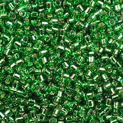 DB-0046 Silver-Lined Green - Miyuki 11/0 Delica Beads
