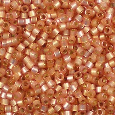 DB-0622 Dyed Peach Silver-lined Alabaster - Miyuki 11/0 Delica Beads