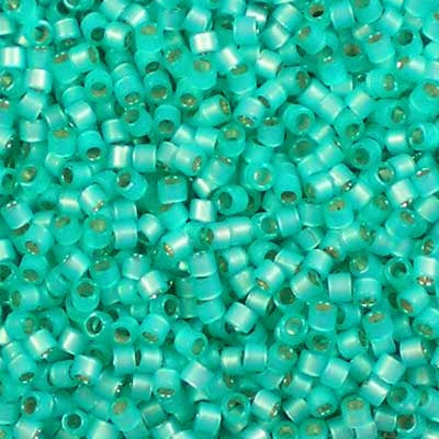 DB-0627 Dyed Mint Silver-lined Alabaster - Miyuki 11/0 Delica Beads