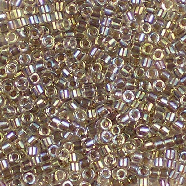 DB-0064 Taupe-Lined Crystal AB - Miyuki 11/0 Delica Beads