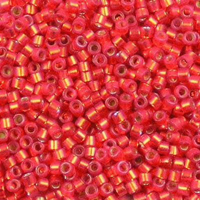 DB-0683 Dyed Semi-Frosted Silver-Lined Red - Miyuki 11/0 Delica Beads