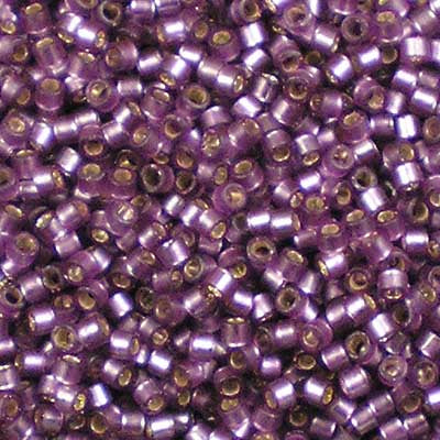 DB-0695 Dyed Semi-Frosted Silver-Lined Mulberry - Miyuki 11/0 Delica Beads