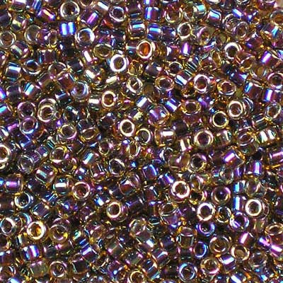 DB-0087 Root Beer-Lined Light Topaz AB Miyuki 11/0 Delica Beads