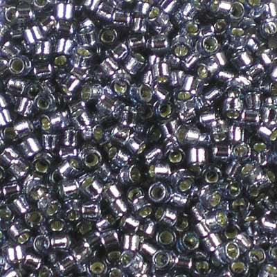 DB-2167 Duracoat Silver-Lined Prussian Blue - Miyuki 11/0 Delica Beads