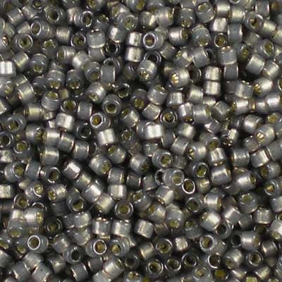 DB-2185 Duracoat Semi-Frosted Silver-Lined Acacia - Miyuki 11/0 Delica Beads
